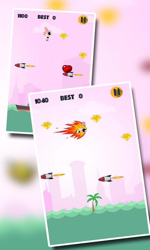Rocket Girl : Flying Challenge for Pink Princess Screenshot 3