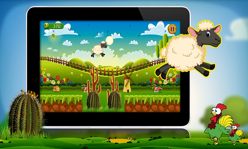Lucky the sheep - Farm run Screenshot