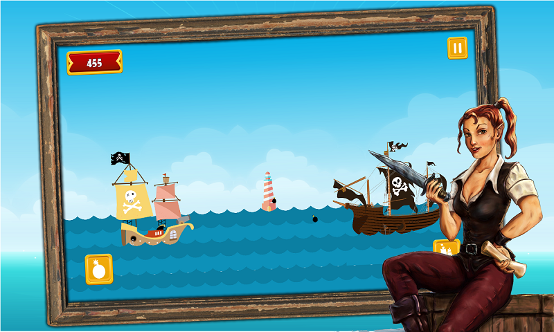 Caribbean Sea Pirates - A revenge battle for gold treasure Screenshot 3