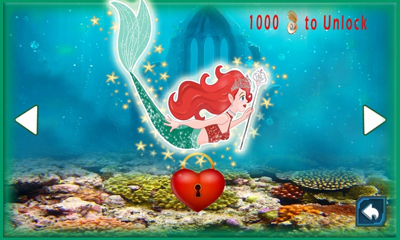 Download adorable little mermaid princess in fish paradise for Little mermaid fish