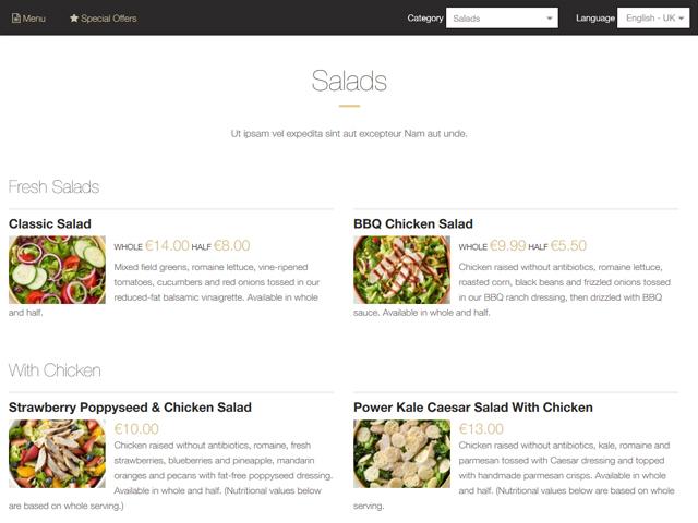 Restaurant Menu Maker by PHPJabbers Screenshot 2