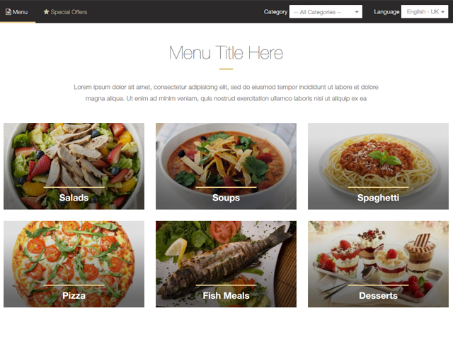 Restaurant Menu Maker by PHPJabbers Screenshot