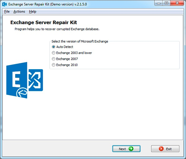 Exchange Server Repair Kit Screenshot 1