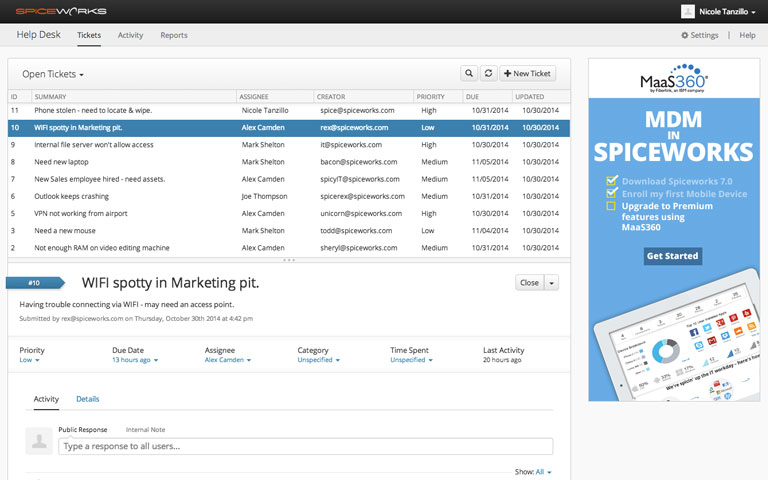 Spiceworks Screenshot 1