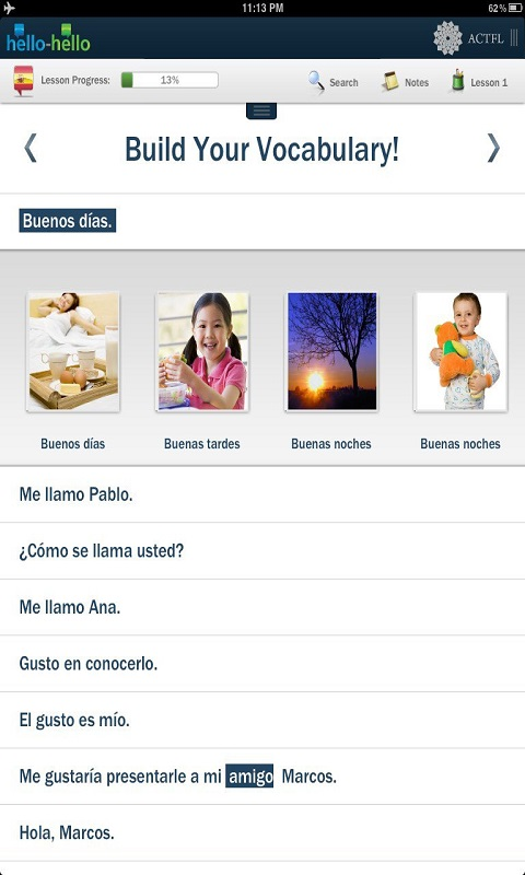 Learn Spanish Hello-Hello Screenshot 3