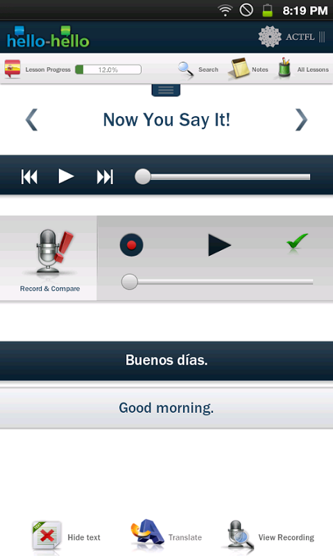 Learn Spanish Hello-Hello Screenshot 2
