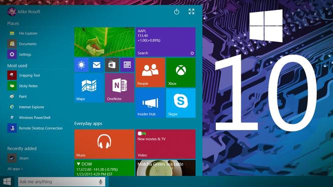 Microsoft Windows 10 Final Release Screenshot 2