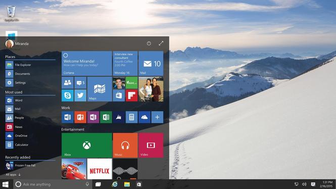 Microsoft Windows 10 Final Release Screenshot 3