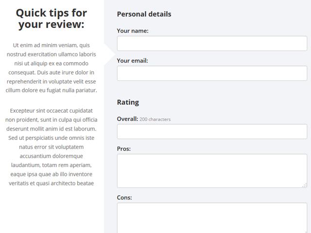 PHP Review Script Screenshot 2
