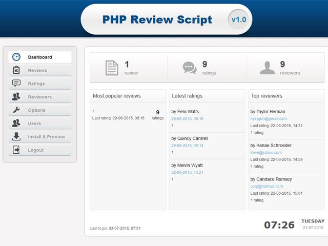 PHP Review Script Screenshot 4