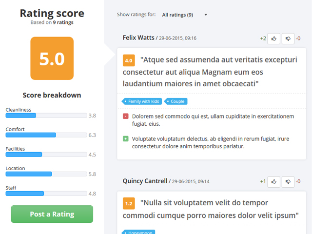 PHP Review Script Screenshot