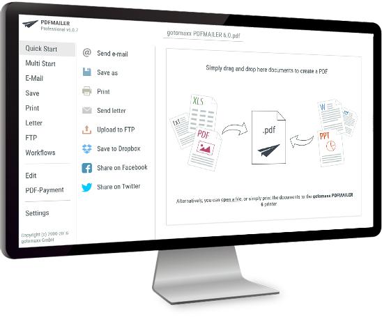 PDFMAILER Screenshot