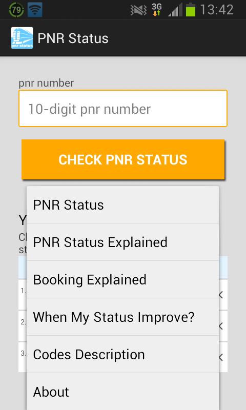 PNR Status Screenshot 3