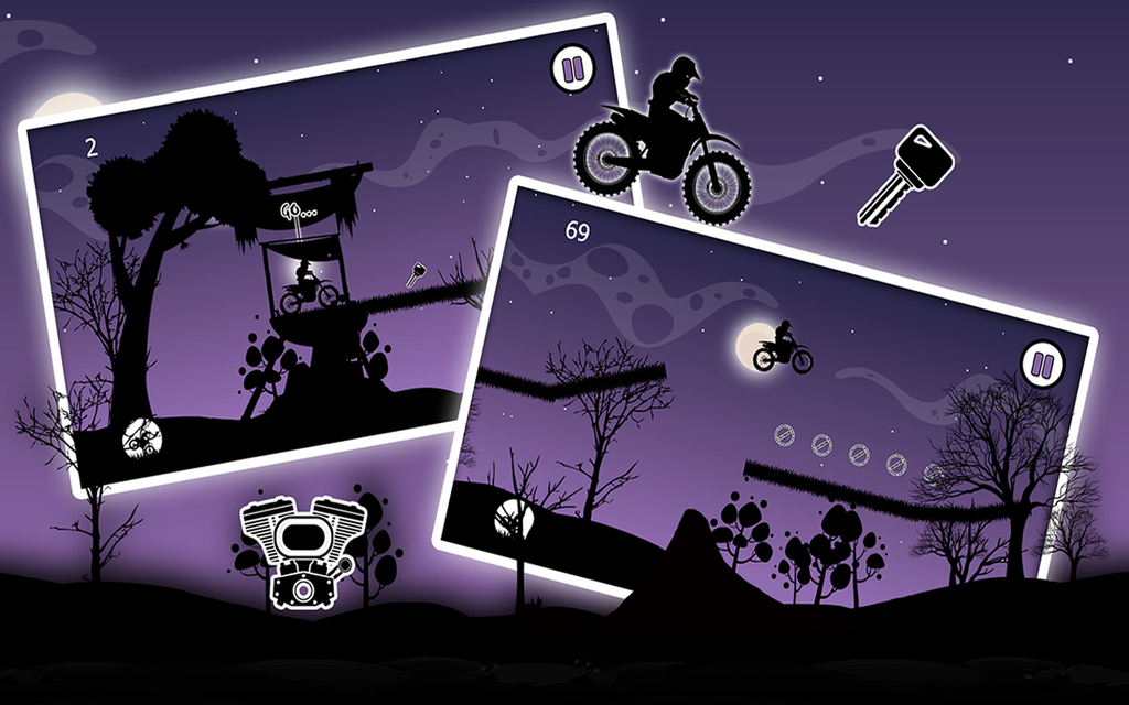 Dark Moto Race : Black Night Bike Racing Challenge Screenshot 2
