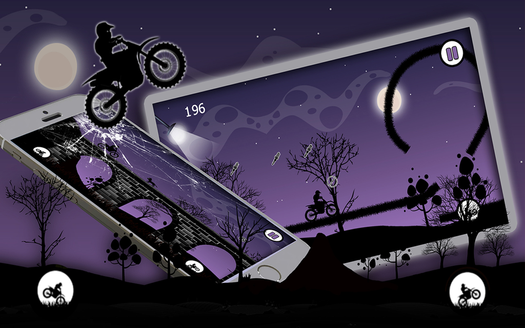 Dark Moto Race : Black Night Bike Racing Challenge Screenshot 5