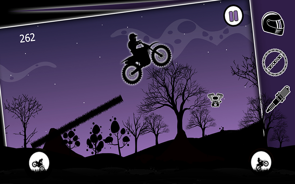 Dark Moto Race : Black Night Bike Racing Challenge Screenshot 6