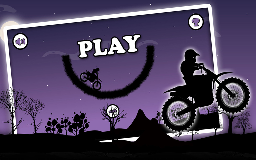 Dark Moto Race : Black Night Bike Racing Challenge Screenshot 1