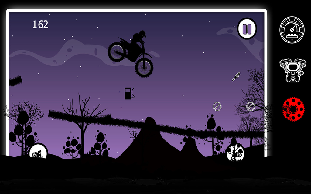 Dark Moto Race : Black Night Bike Racing Challenge Screenshot 3