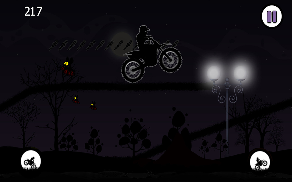 Dark Moto Race : Black Night Bike Racing Challenge Screenshot 4