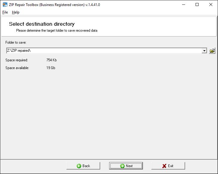 ZIP Repair Toolbox Screenshot 3