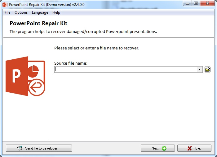PowerPoint Repair Kit Screenshot