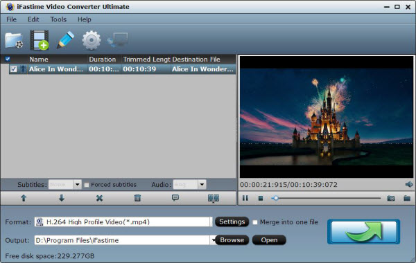iFastime Video Converter Ultimate Screenshot