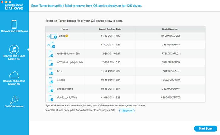 Wondershare Dr.Fone for iOS (Mac Version) Screenshot 4