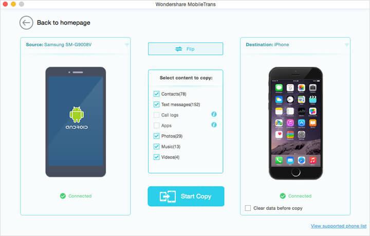 Wondershare MobileTrans for Mac Screenshot 5