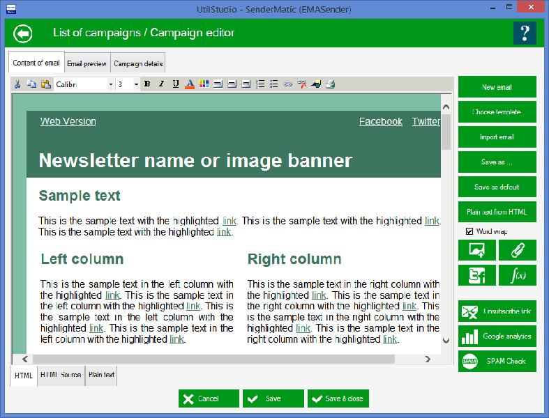 SenderMatic emailer Screenshot