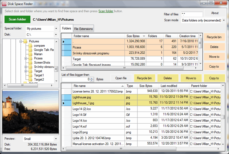 UtilStudio Disk Space Finder Screenshot 1
