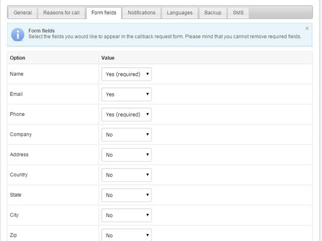 Callback Widget by PHPJabbers Screenshot 5
