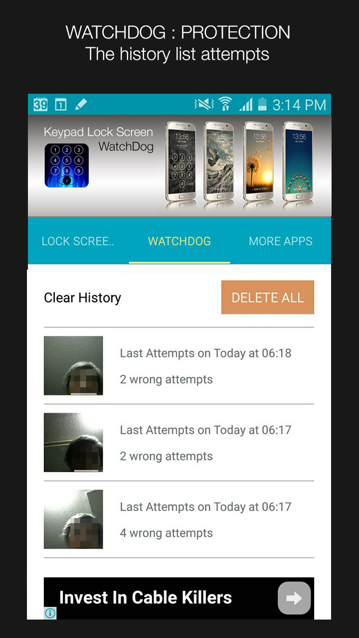 Keypad Lock Screen WatchDog Screenshot 8
