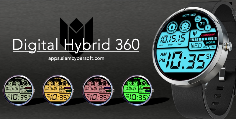 Hybrid 360 Digital Watch Face Screenshot