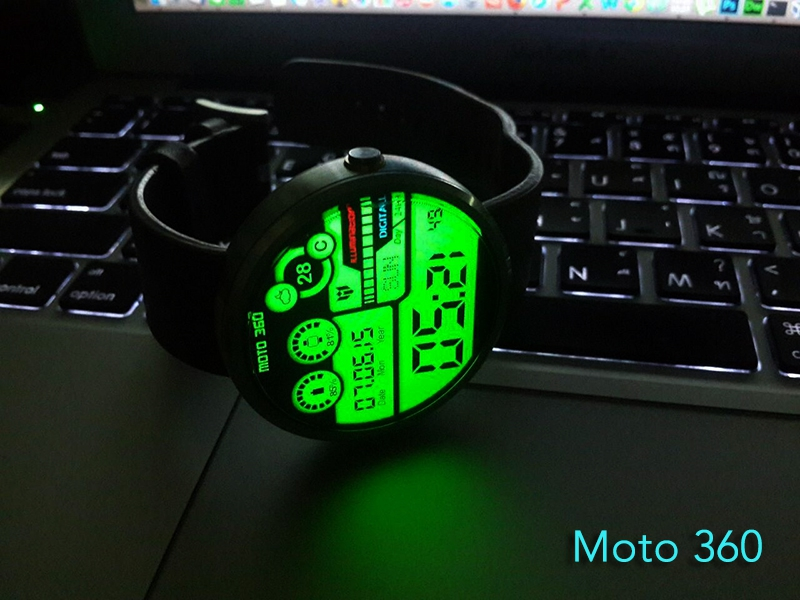 Hybrid 360 Digital Watch Face Screenshot 3