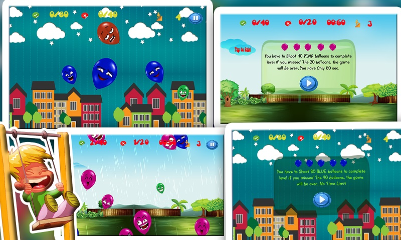 Ninja Baby Balloon Smasher hit Screenshot 7