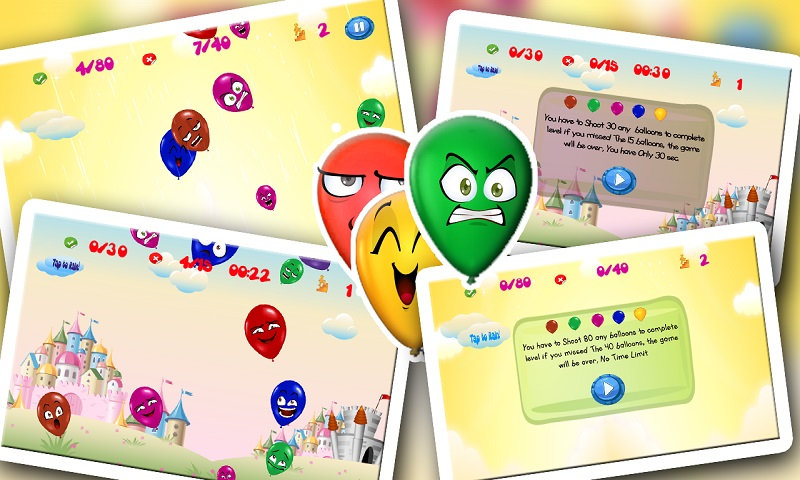 Ninja Baby Balloon Smasher hit Screenshot 6