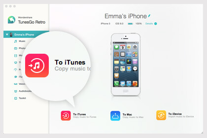 Wondershare TunesGo Retro (Mac) Screenshot 2