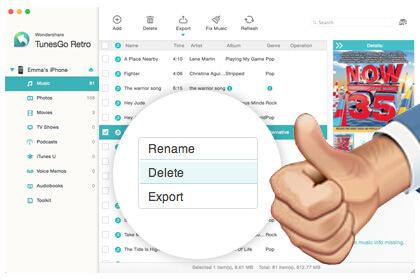 Wondershare TunesGo Retro (Mac) Screenshot 5