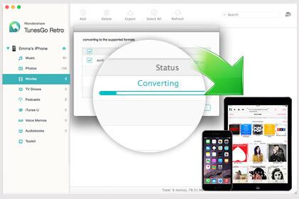 Wondershare TunesGo Retro (Mac) Screenshot 4