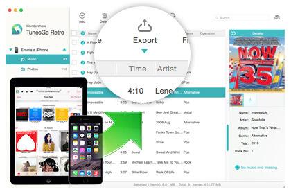 Wondershare TunesGo Retro (Mac) Screenshot 3
