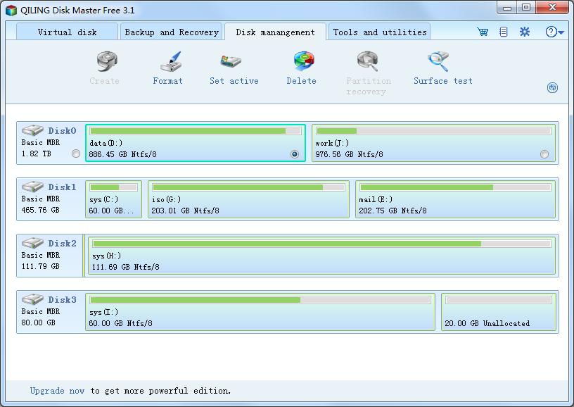 QILING Disk Master Free Screenshot 2