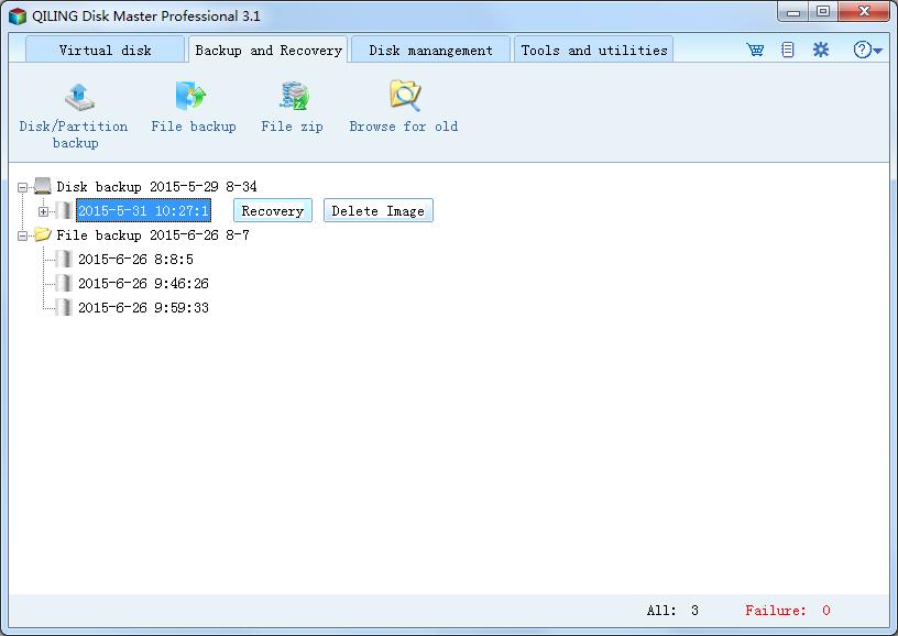 QILING Disk Master Professional Screenshot 1
