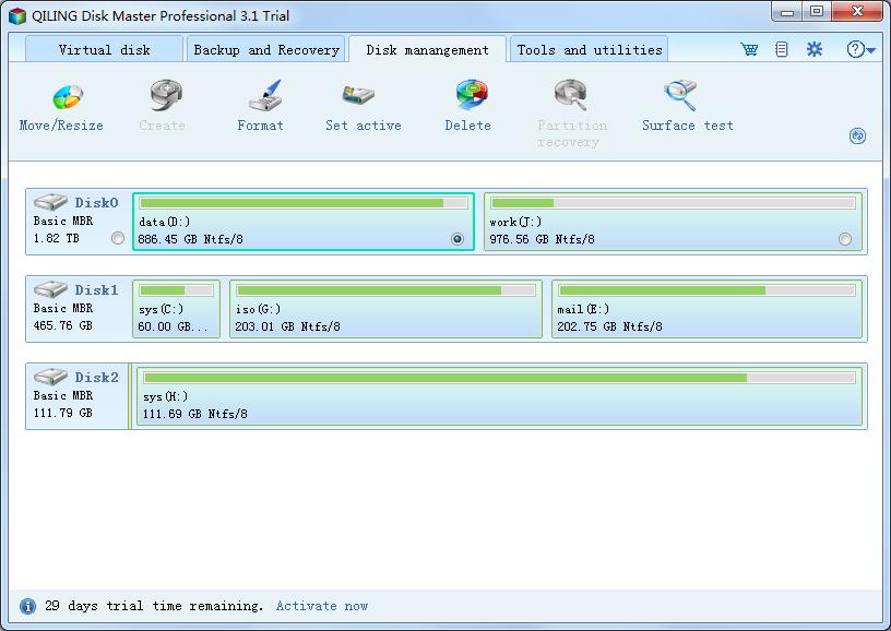 QILING Disk Master Professional Screenshot 2