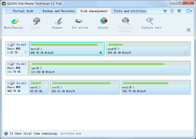 QILING Disk Master Technician Screenshot 4