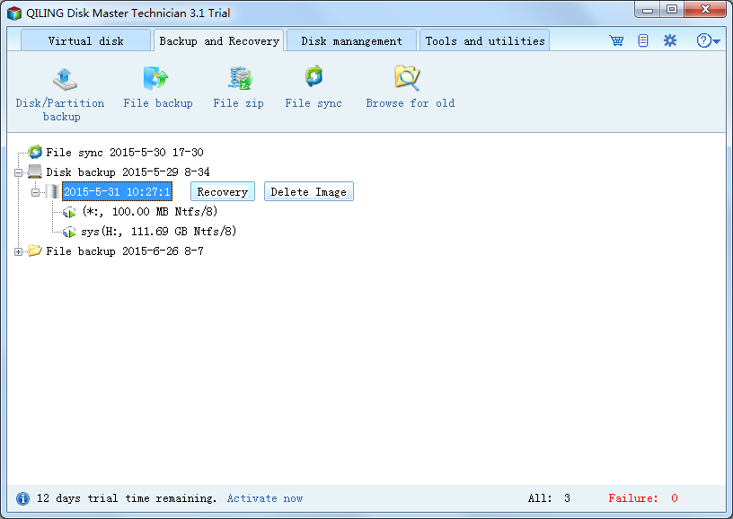 QILING Disk Master Technician Screenshot