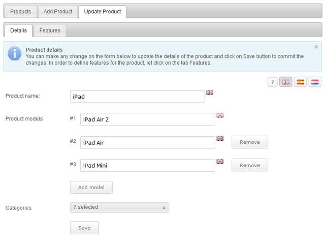 Product Comparison Screenshot 4