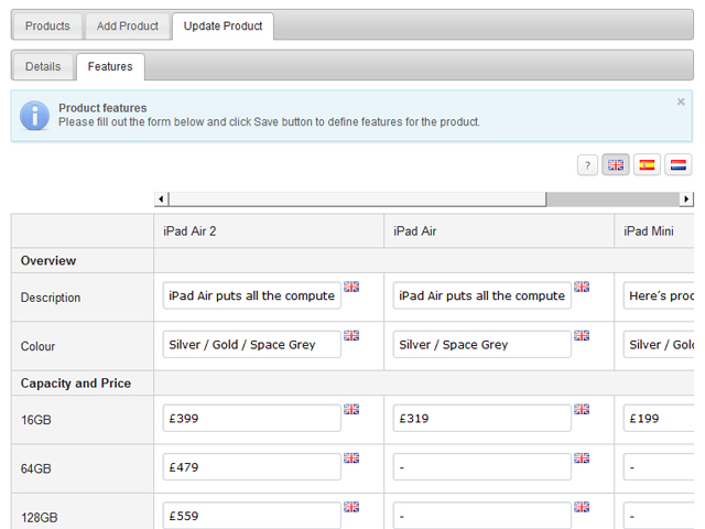 Product Comparison Screenshot 5