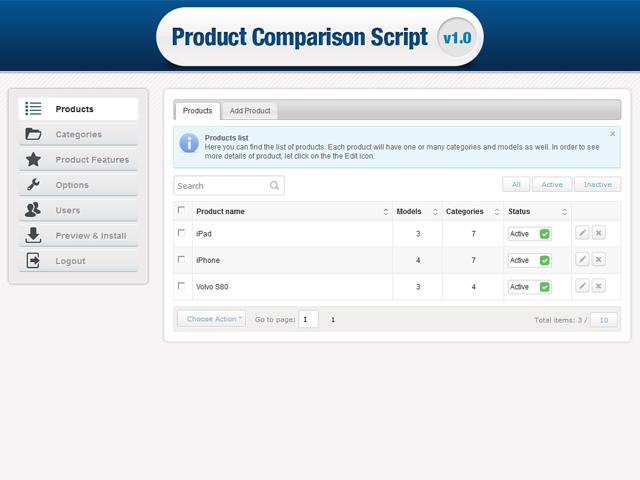 Product Comparison Screenshot 3