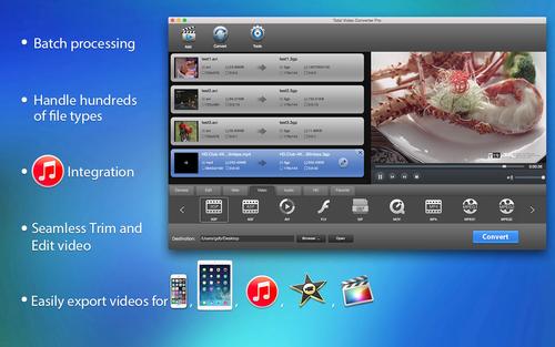 eTinysoft Total Video Converter Mac Screenshot 1