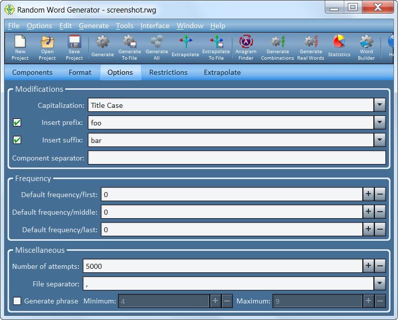 Random Word Generator Screenshot 3